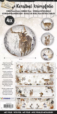 Studiolight CHRISTMAS SLEEVES, FROZEN FOREST 01