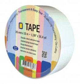 Je Je Produkt Dubbelzijdig klevend tape rol 15m x 35mm