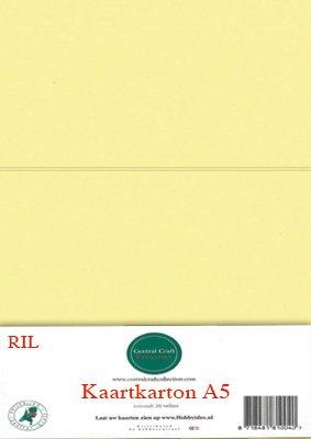 Hobbycentraal A5 Kaartkarton 20 vel geel