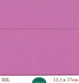 Hobbycentraal Kaartkarrton 13,5_27 cm   20 vel donker roze