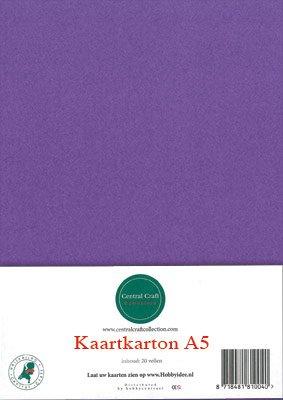 Hobbycentraal A5 Kaartkarton 20 vel paars