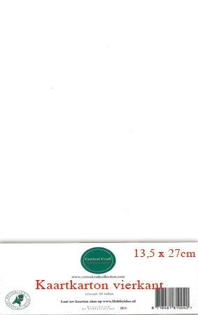 Hobbycentraal 13,5 x 27 cm Kaartkarton   20 vel  wit