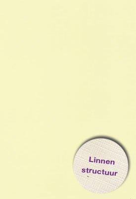 Hobbycentraal A5 Karton Linnen  10 vel   l. geel