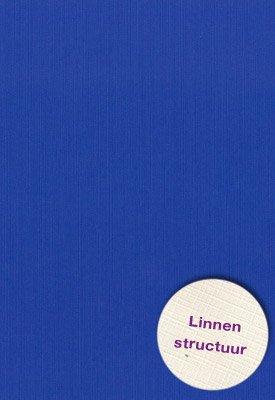 Hobbycentraal A5 Karton Linnen  10 vel   Blauw