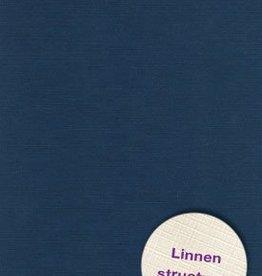 Hobbycentraal Karton 13,5_27cm Linnen  10 vel   donker blauw
