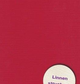 Hobbycentraal Karton 13,5_27cm Linnen  10 vel   Kerst Rood