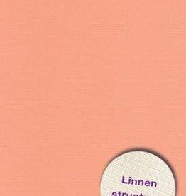 Hobbycentraal Karton 13,5_27cm Linnen  10 vel   mandarijn
