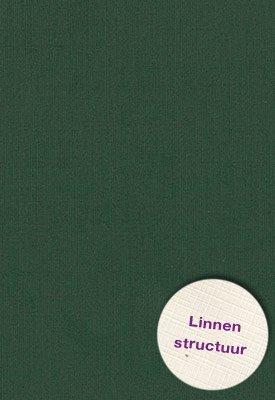 Hobbycentraal 13,5 x 27 cm  Linnen 10 vel  Donker groen