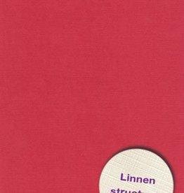 Hobbycentraal A4 Karton Linnen  10 vel   rood