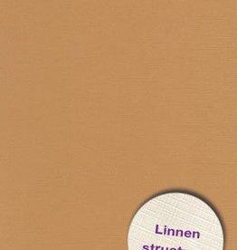 Hobbycentraal A4 Karton Linnen  10 vel   l.bruin