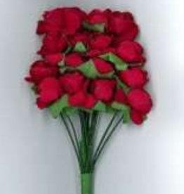 Hobby Idee Papieren Roosjes Rood 10mm