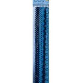 Folia Vilten figuurranden Blauw
