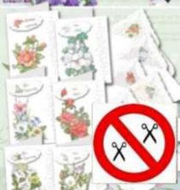 Creatief Art Kaarten set Bloemen 6 kaarten