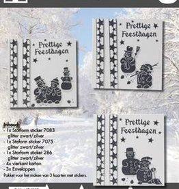 Hobby Idee Kaartenset met stickers Kerst Hobbyidee