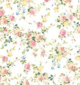 Hobby Idee Hobbyidee A4 Basisvel Vintage bloemen