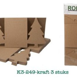 Romak Romak Kerstboom kabinet kaart Kraft