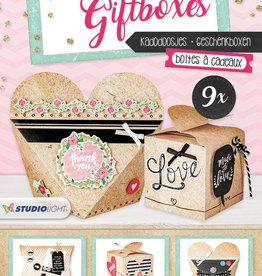 Studiolight STANSBLOK A4 TO MAKE 9 GIFTBOXES 01