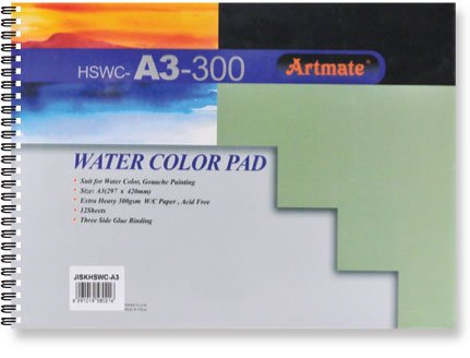 Artmate Artmate Water color pad A3 190gr 24 sheet