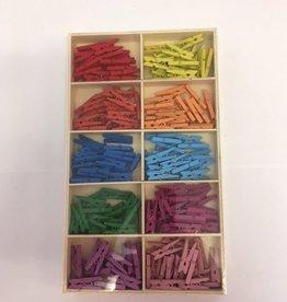 Mini waskrijpers 10 kleuren 2,5 cm