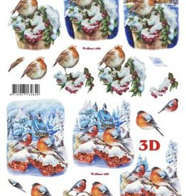 Le Suh Uitdrukvel kerst vogels