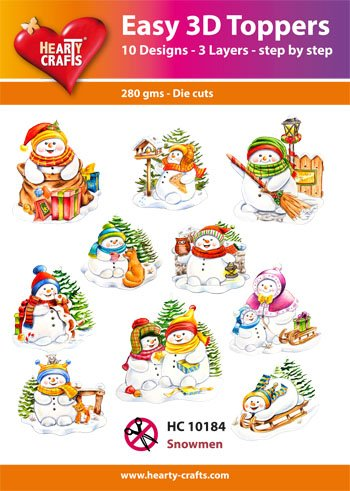 Hearty Crafts Easy 3D - Snowmen