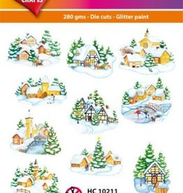 Hearty Crafts Easy 3D-Toppers Winter Village