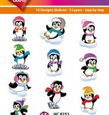 Hearty Crafts Easy 3D-Toppers - Comical Pinguins