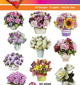 Hearty Crafts Easy 3D-Toppers Flower in Vase