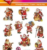 Hearty Crafts Easy 3D-Toppers Santa Claus