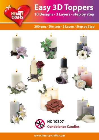 Hearty Crafts Easy 3D-Toppers Condolence Candles