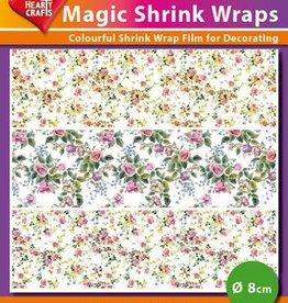 Hearty Crafts Magic Shrink Wraps, Mini-Roses (⌀ 8 cm)