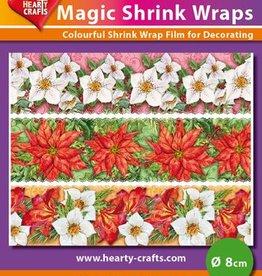 Hearty Crafts Magic Shrink Wraps, Winterflowers (⌀ 8 cm)