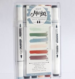 """Studiolight CONNECTABLE BOX WITH 6 WATER BASED DUAL TIP MARKERS """"WINTER FEELINGS"""""""
