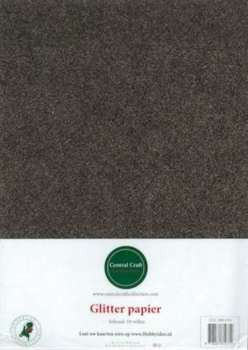 Central Craft Collection Glitterpapier bruin A4