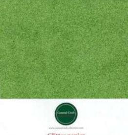 Central Craft Collection Papier pailleté jaune / vert A4