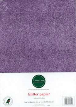 Central Craft Collection Glitterpapier lila A4