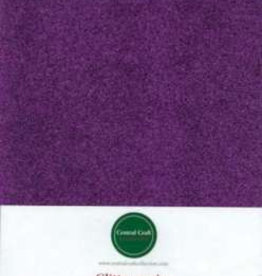 Central Craft Collection Glitter paper purple A4