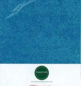 Central Craft Collection Glitzerpapier blau A4
