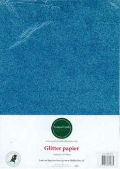 Central Craft Collection Glitterpapier blauw A4
