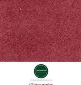 Central Craft Collection Papier pailleté rouge A4