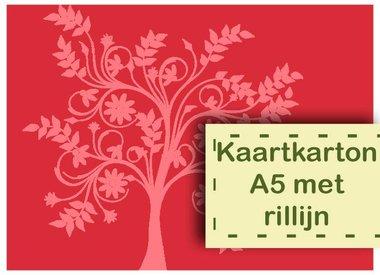 HC Kaartkarton A5 met Rillijn