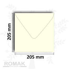 Envelopes square 205x205 mm ivory 25 pieces