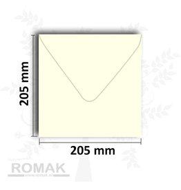 Enveloppen vierkant 205x205 mm ivoor 25 stuks