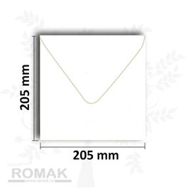 Envelopes square 205x205 mm white 25 pieces