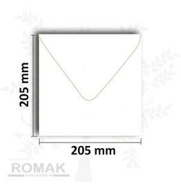Enveloppen vierkant 205x205 mm wit 25 stuks