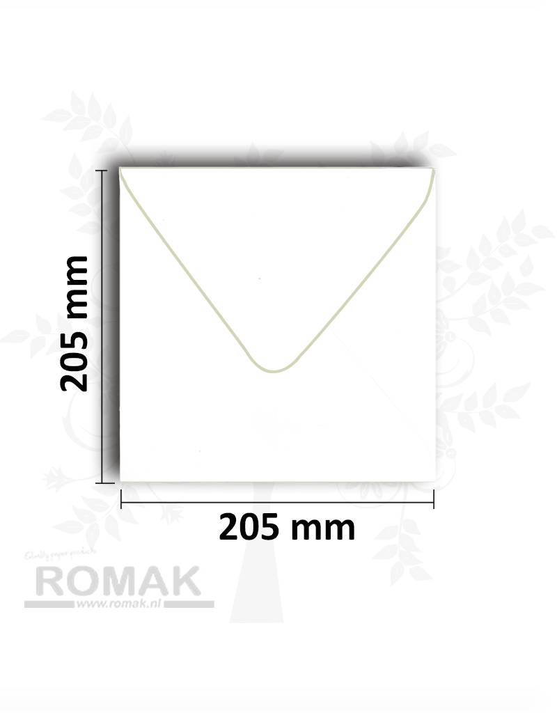 Envelopes square 205x205 mm white 25 pieces