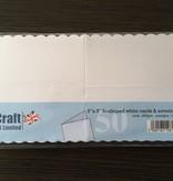 "Craft UK Limited 5"" x 5"" Scalloped white cards & envelope"