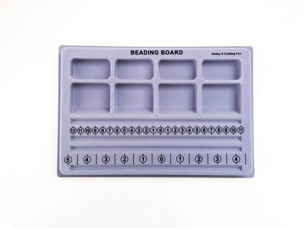 Hobby Crafting & Fun Flocked beading board, 19 x 28cm, silver grey, 1pce/ bag
