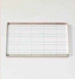 Hobby Crafting & Fun Clear stamp block, transparant with lines, 10x6x0.7 cm./ header bag