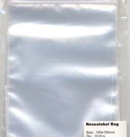 Hobby Crafting & Fun Resealable bag with round hole, transparent, 100x150mm, 20pcs/ bag